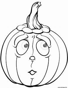 Citrouille Halloween Dessin : coloriage citrouille qui a peur halloween ~ Melissatoandfro.com Idées de Décoration