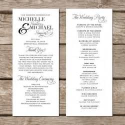 wedding reception program wording top 25 best exles of wedding programs ideas on