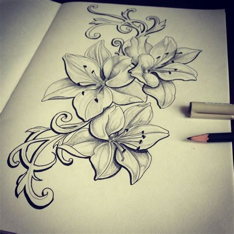ideas  lilies tattoo  pinterest lillies tattoo lily flower tattoos  lily