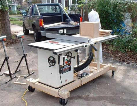 contractor table  mobile base plans woodworking table
