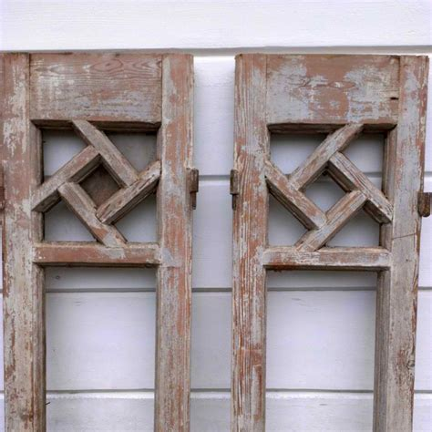 Pair Of Rustic Shutters  Omero Home. Large Ottomans. Fuzzy Chair. Spokane Hardware. Blackman Plumbing. Ottoman Table. Beveled Subway Tile. Kitchen Cabinet Decor. Table Lamps With Rectangular Shades