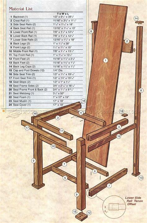 robie house chair plans woodarchivist