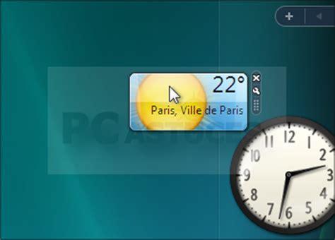 gadgets bureau afficher ses gadgets directement sur le bureau windows vista
