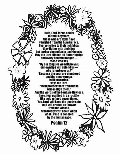Psalm Coloring Printable Adult