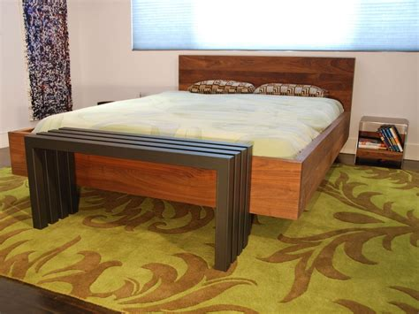 Custom Made Solid Walnut Platform Bed