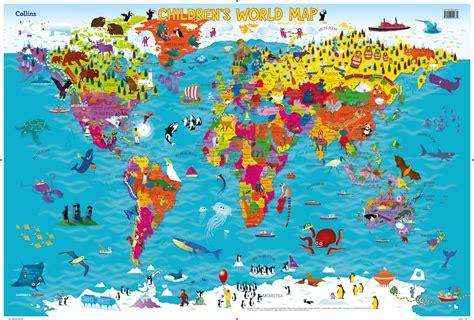 world map  kids poster world map weltkarte peta