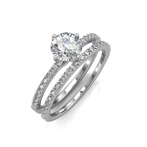 Engagement Ring & Wedding Band  Solitaire Diamond Rings