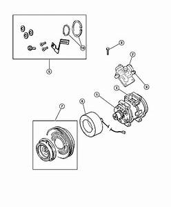 2000 Dodge Grand Caravan Pulley Hub Kit  A  C Compressor  Ine