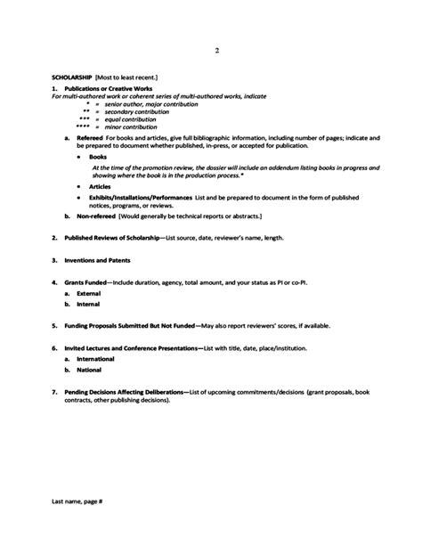 model curriculum vitae of iowa free