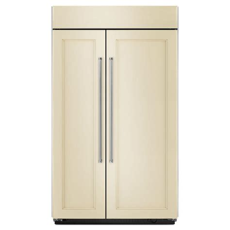 Kitchenaid Refrigerator Built In by Kitchenaid 42 In W 25 5 Cu Ft Built In Side By Side