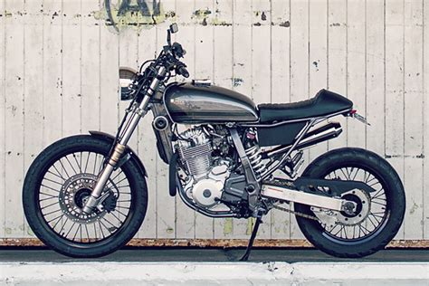 suzuki dr cafe scrambler james alkins pipeburncom