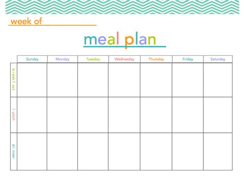 meal plan printable   mamma