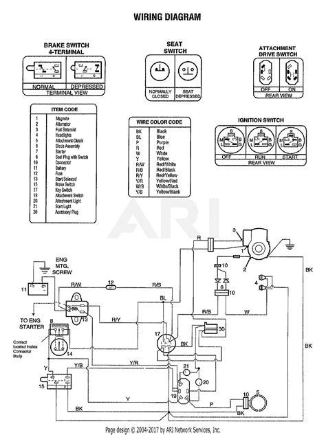 Troy Bilt Bronco Electrical Wiring Diagram by Troy Bilt 13104 15 5hp Ltx Hydro Lawn Tractor S N