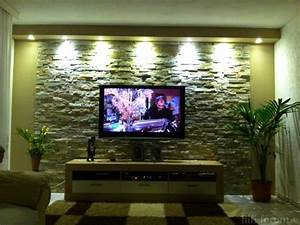 Steinwand Im Wohnzimmer : wand aus stein im wohnzimmer tv wand klinker home design inspiration interieur ideen ~ Sanjose-hotels-ca.com Haus und Dekorationen