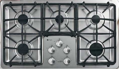 ge profile gas cooktop ge profile pgp966setss 36 quot built in gas cooktop
