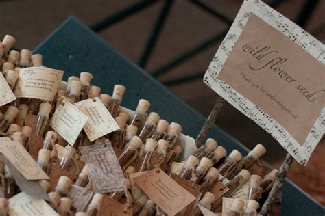 rustic wedding favor flower seed wedding favors corked