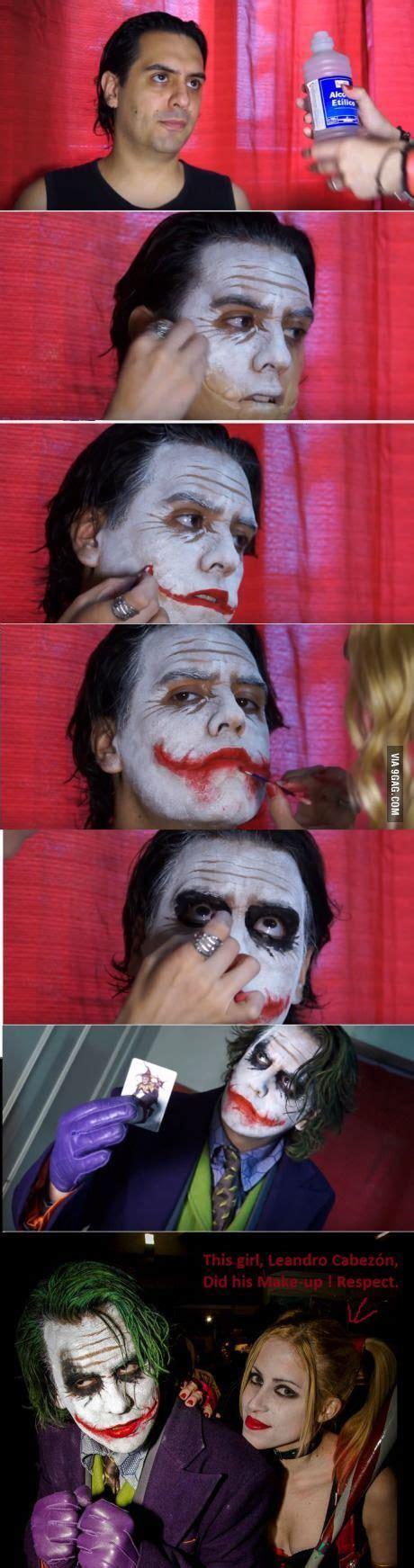 Amazing Joker Cosplay Make Up By Leandro Cabezón