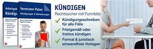 Kündigungsfrist Ohne Mietvertrag : k ndigungsschreiben muster und vorlagen ~ Lizthompson.info Haus und Dekorationen