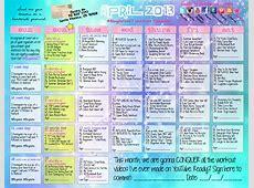 april workout calendar – Blogilates