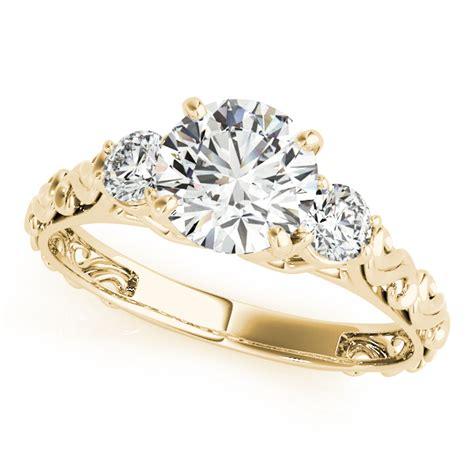 vintage heirloom engagement ring bridal set 14k yellow