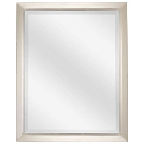 Brushed Nickel Bathroom Mirror by Revel 30 Quot Large Decorative Bathroom Wall Mirror