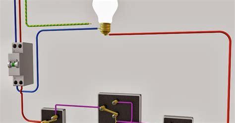 schema electrique le raccordement de 3 interrupteurs va et vient