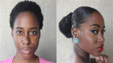 Sleek Updo On Twa/ Short Natural Hair
