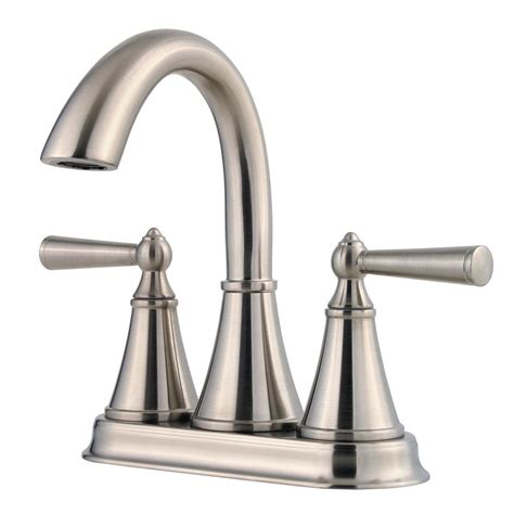 Pfister Tub Faucet by Pfister Saxton 4 In Centerset 2 Handle Bathroom Faucet In