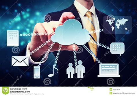 business man  cloud connectivity concept royalty