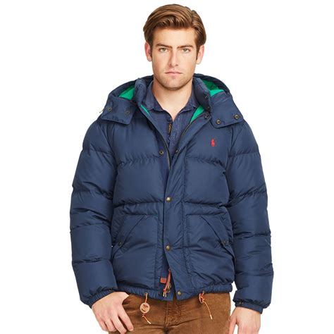 Lyst  Polo Ralph Lauren Quilted Down Coat In Blue For Men