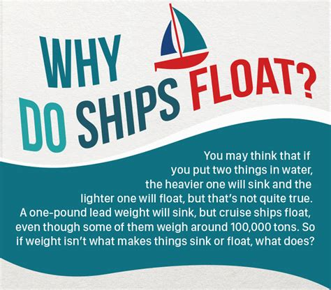 why ship floats on water and doesn t sink infographic how do ships float spratt personal shipping