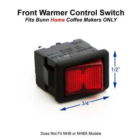 Bunn Home On/Off Warmer Control Switch (Lighted)   Coffee Wholesale USA