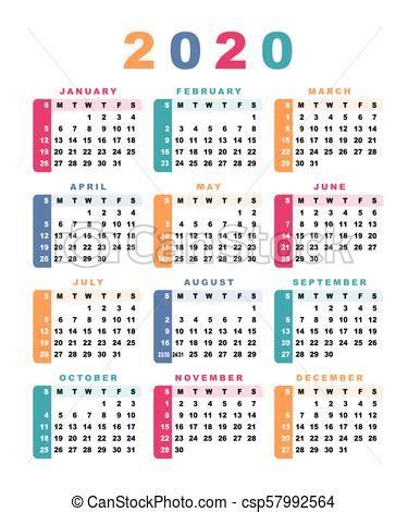 comeca calendario week sunday illustration