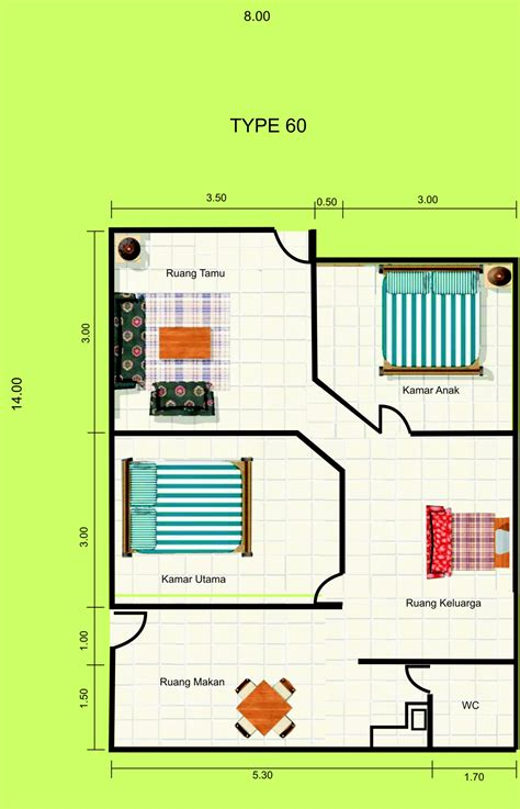 desain rumah minimalis ukuran tanah  meter desain