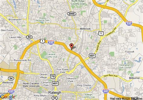map  hilton north raleigh raleigh