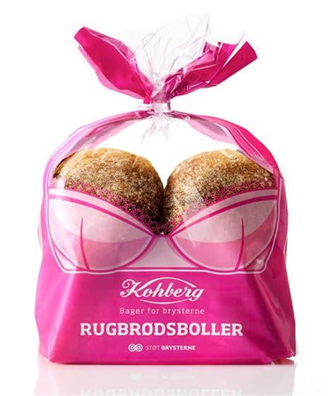 sexy buns  bread design  promote breast cancer
