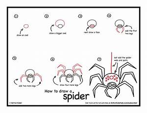 How To Draw A Spider - Art For Kids Hub
