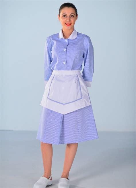 femme de chambre blouse femme de chambre bleu ciel carlton uniformes d