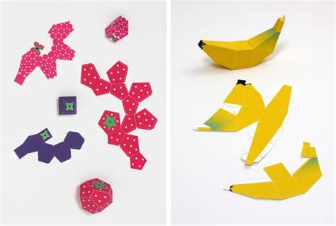 food papercraft template paper fruit mr printables