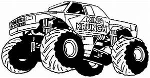 Free Monster Truck Coloring Pages For Kids