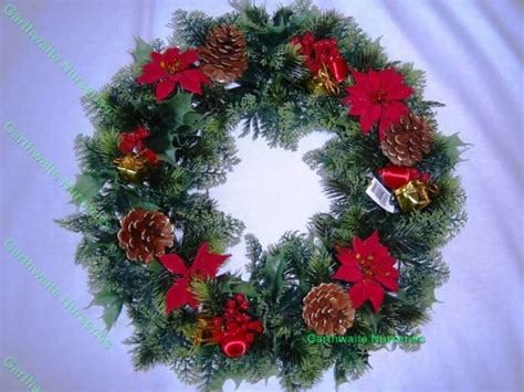 christmas wreath decorationdoor artificial xmas red