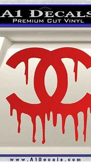 Chanel Dripping Decal Sticker » A1 Decals
