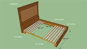 Queen Bed Frame Plans BED PLANS DIY & BLUEPRINTS