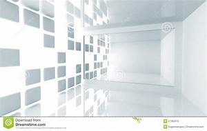 Abstract Architecture. Empty White Modern Interior Stock ...
