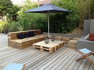 Terrasse Avec Palette : terrasse inspiration maison pinterest canapes ~ Melissatoandfro.com Idées de Décoration