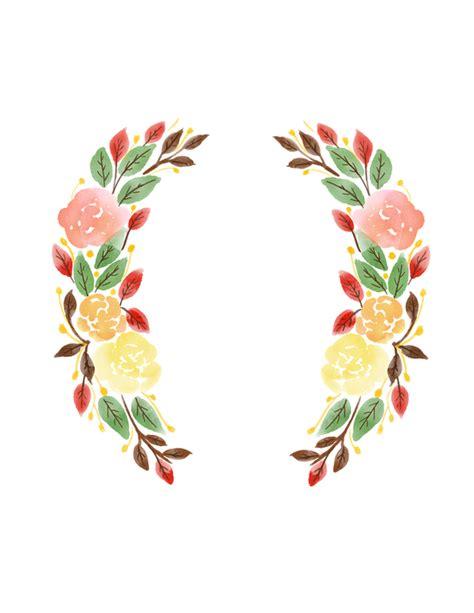 Corona De Flores Acuarela Png