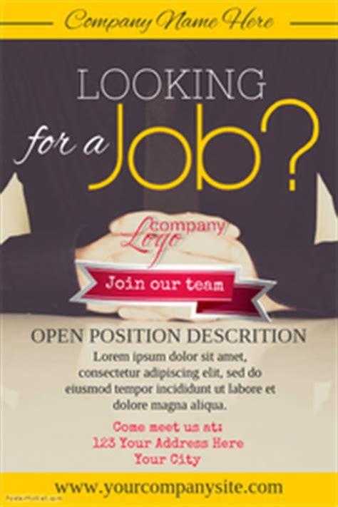customize  hiring poster templates postermywall