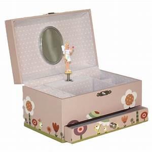Trousselier Musical Jewellery Box Ninon Nioui Pink For Girls