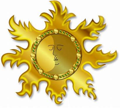 Sun Moon Clipart Eclipse Lunar Gold Drawing