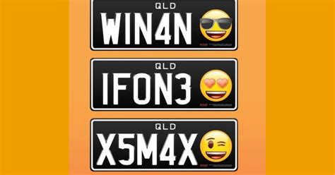 Emoji License Plates Will Soon Be Available In Queensland